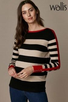 Wallis Red Shoulder Flash Stripe Jumper