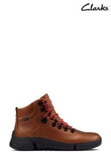Clarks Dark Tan Lea TriPathDay GTX Boots