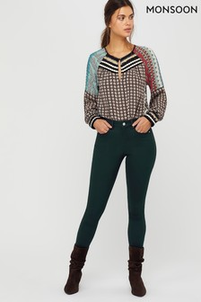 Monsoon Ladies Green Nadine Jeans