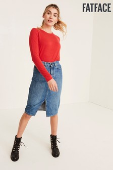 FatFace Red Jodie Jumper