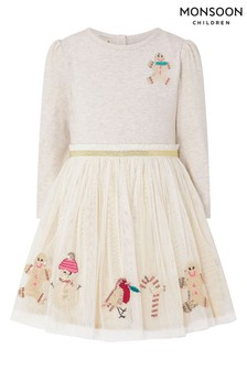 Monsoon Children Nude Baby Christmas Disco Dress