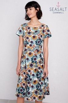 Seasalt Petite Brown Stepping Stone Summer Daze Dress