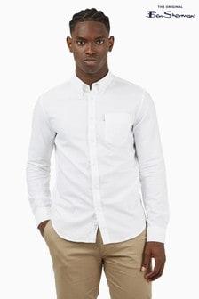 Ben Sherman White Long Sleeve Signature Organic Oxford Shirt