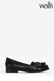 Wallis Bluebell Black Tassel Loafer Shoes