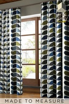 Multi Stem Moss Green Made To Measure Curtains by Orla Kiely