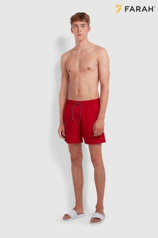 Farah Red Colbert Swim Shorts