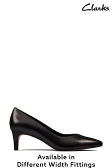Clarks Black Leather Laina55 Court2 Shoes