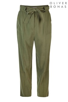 Oliver Bonas Green Utility Trousers