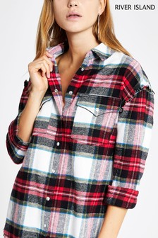 River Island Check Overshirt