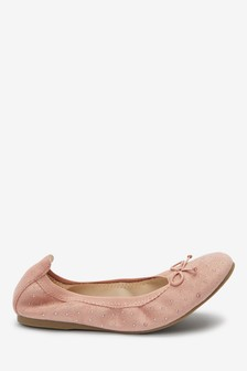 Studded Flexi Ballet Shoes (Older)