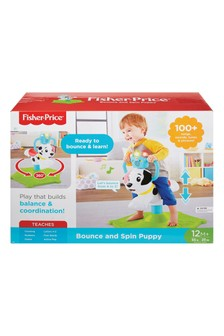Fisher-Price Bounce And Spin Puppy Stationary Musical Ride On Toy