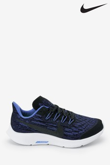 Nike Navy Glitter Pegasus 36 Youth Trainers