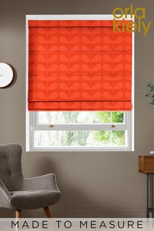 Jacquard Stem Tomato Red Made To Measure Roman Blind by Orla Kiely