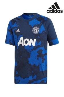 adidas Manchester United Football Club Blue Pre Shirt