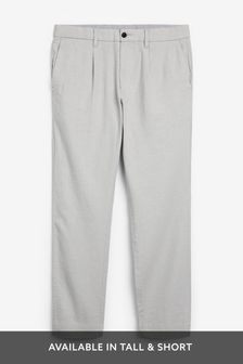 Linen Blend Pleated Trousers