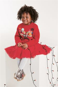 Рождественский джемпер с оленем для девочек (3 мес.-6 лет)