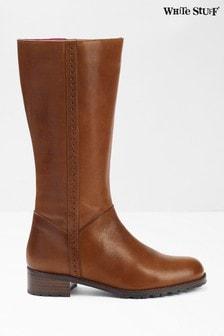 White Stuff Brown Suzie Mid High Boots