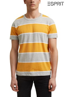 Esprit Yellow Striped T-Shirt