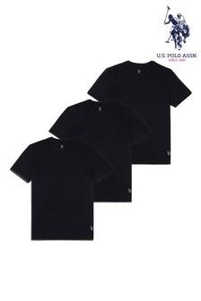 U.S. Polo Assn Black T-Shirts Three Pack