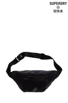 Superdry Black Sportstyle Print Bum Bag