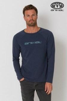 Animal Indigo Blue Marl Action Long Sleeve T-Shirt