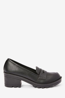Chunky Heel Loafers (Older)