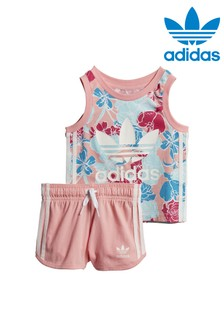 adidas Originals Infant Floral Vest And Short Set