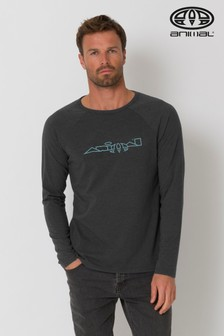 Animal Dark Charcoal Marl Action Long Sleeve T-Shirt