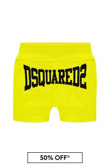 Dsquared2 Kids Baby Boys Yellow Cotton Shorts