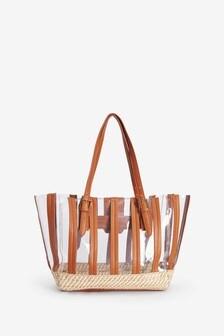 Weave Bottom Perspex Shopper