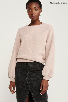 Abercrombie & Fitch Pink Sherpa Jumper