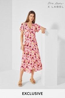 Alice Archer x Label Floral Print Tea Dress