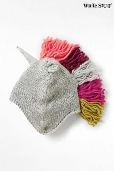 White Stuff Grey Kids Unicorn Hat
