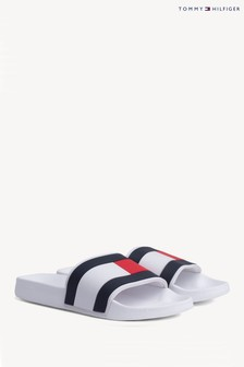 Tommy Hilfiger White Essential Flag Pool Sliders