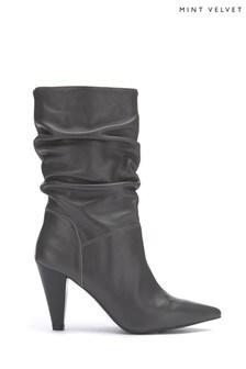 Mint Velvet Harley Grey Slouch Boots