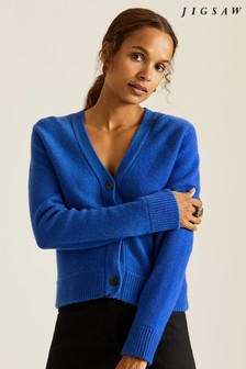 Jigsaw Blue Cloud Cashmere Cardigan