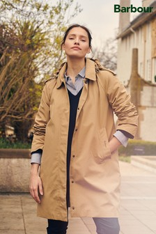 Barbour® Tartan Beige Waterproof Millie Trench Coat