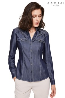 Damsel In A Dress Blue Savona Denim Shirt