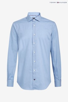 Tommy Hilfiger Blue Tailored Flex Collar Classic Shirt