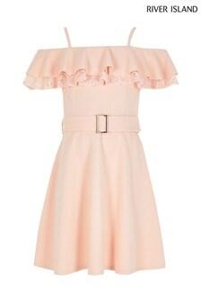 River Island Pink Light Lace Maisie Dress