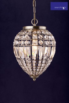 Comet 1 Light Pineapple Pendant by Searchlight
