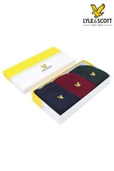 Lyle & Scott Zinfandel Sport Socks Three Pack Gift Box