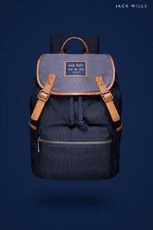 Jack Wills Navy Kesgrave Large Backpack
