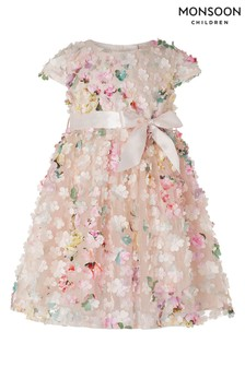 Monsoon Pink Baby Florence Dress