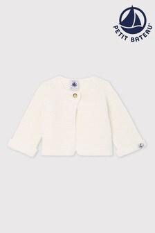 Petit Bateau White Knitted Cardigan