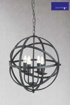 Provident 4 Light Cage Frame Orb Pendant by Searchlight