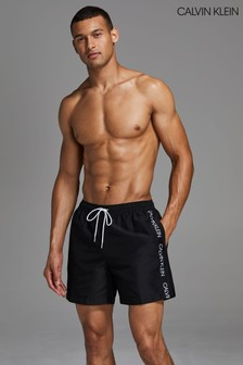 Calvin Klein Black Logo Tape Medium Drawstring Trunks