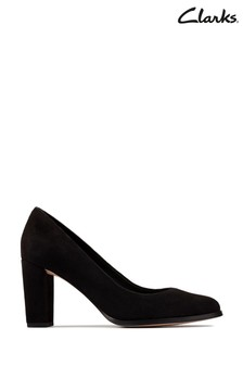 Clarks Black Suede Kaylin Cara 2 Shoes