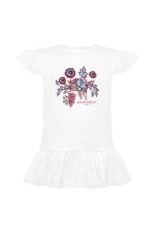 Givenchy Kids Baby Girls White Cotton T-Shirt
