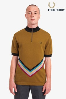 Fred Perry Funnel Neck Knitted Polo
